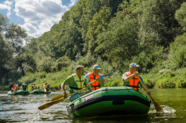 Sanok Atrakcja Spływ pontonowy Zielony Ponton
